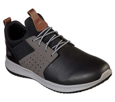 Gray Black Skechers Delson - Axton - FINAL SALE