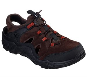 Black Brown Skechers Relaxed Fit: Outline - Retrail