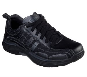 Black Skechers Relaxed Fit: Expended - Manden