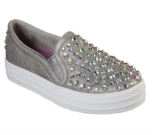 Gray Skechers Double Up - Double Diamond