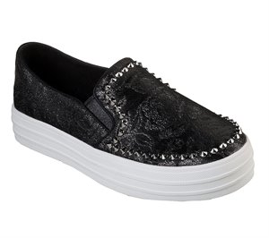 Black Skechers Double Up - Guarded Rose