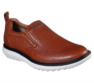 Brown Skechers Mako - Qued