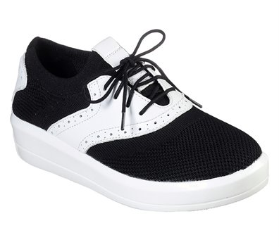 White Black Skechers Shining - Grayson