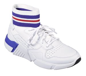 Blue White Skechers Block - Varsity