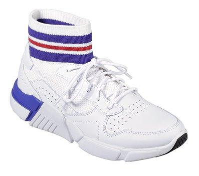 Blue White Skechers Block - Varsity