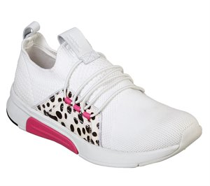 Pink White Skechers Modern Jogger - Trails