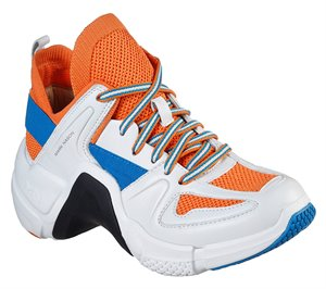 Orange White Skechers Neo Block - Faye