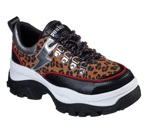 Brown Black Skechers Master - Shockingly Wild