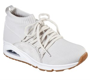 White Skechers Uno - Wrapped Up