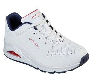 Navy White Skechers Uno - Stand on Air