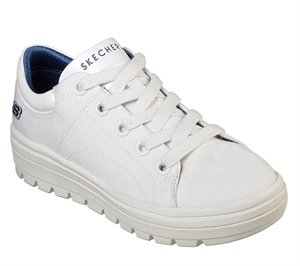 White Skechers Street Cleat - Bring It Back