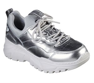 Silver Skechers B-Rad - The Biz