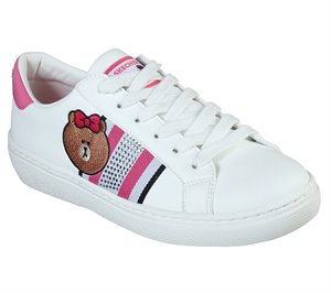 Pink White Skechers Line Friends: Goldie - Cool Crew