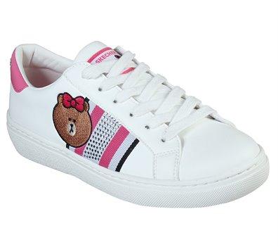 Pink White Skechers Line Friends: Goldie - Cool Crew - FINAL SALE