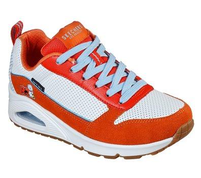 Orange White Skechers Uno - BT21