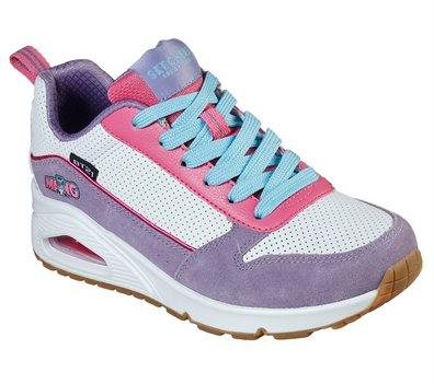 Pink White Skechers Uno - BT21