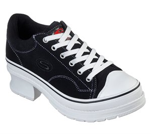 Black Skechers Heartbeats - Softy