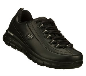 Black Skechers Work Relaxed Fit: Sure Track - Trickel