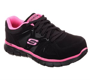 PinkBlack Skechers Work: Synergy - Sandlot Alloy Toe