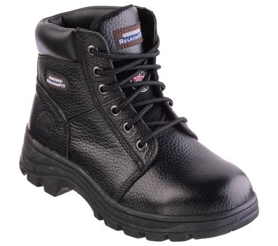 Black Skechers Work Relaxed Fit: Workshire - Peril ST
