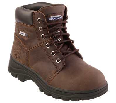 Brown Skechers Work Relaxed Fit: Workshire - Peril ST
