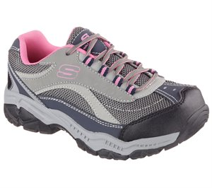 Pink/Gray Skechers Work Relaxed Fit: Doyline ST