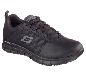 Black Skechers Work Relaxed Fit: Sure Track - Erath SR