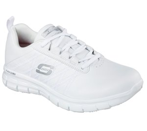 White Skechers Work Relaxed Fit: Sure Track - Erath SR