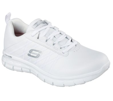 White Skechers Work Relaxed Fit: Sure Track - Erath SR - FINAL SALE