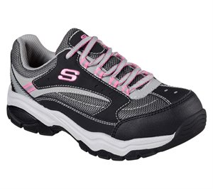 Gray Black Skechers Work: Biscoe ST