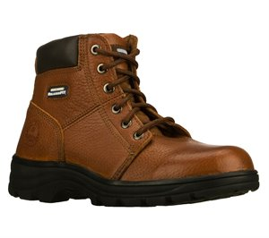 Brown Skechers Work Relaxed Fit: Workshire - Condor - FINAL SALE