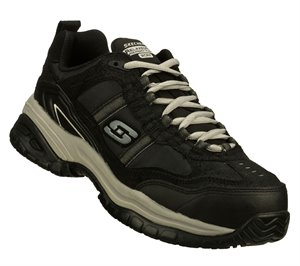 GrayBlack Skechers Work Relaxed Fit: Soft Stride - Grinnell Comp