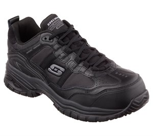 Black Skechers Work Relaxed Fit: Soft Stride - Grinnell Comp