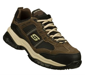 BlackBrown Skechers Work Relaxed Fit: Soft Stride - Grinnell Comp