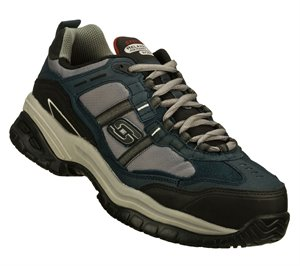 GrayNavy Skechers Work Relaxed Fit: Soft Stride - Grinnell Comp