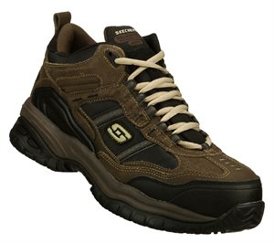 BlackBrown Skechers Work Relaxed Fit: Soft Stride - Canopy Comp Toe - FINAL SALE