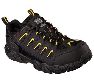 YelloW Black Skechers Work: Blais ST