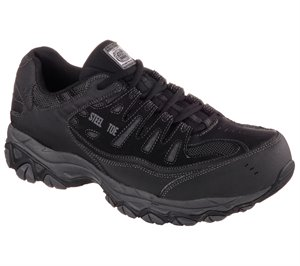 Gray/Black Skechers Work Relaxed Fit: Crankton ST