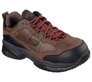 Brown Skechers Work Relaxed Fit: Soft Stride - Constructor II ST