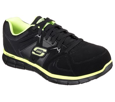Green Black Skechers Work Relaxed Fit: Synergy - Ekron Alloy Toe