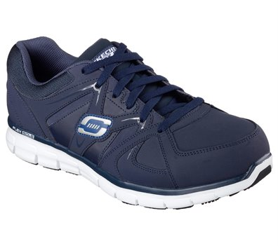 Navy Skechers Work Relaxed Fit: Synergy - Ekron Alloy Toe