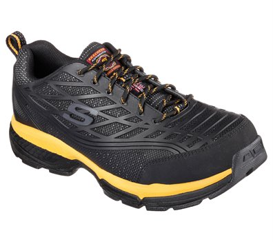 Skechers Work Relaxed Fit: Conroe ST in Yellow Black