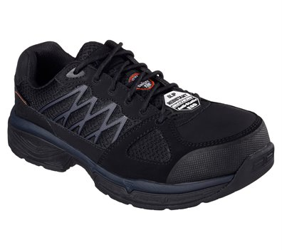 Black Skechers Work Relaxed Fit: Conroe - Searcy ESD - FINAL SALE