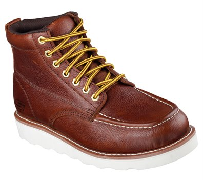 Brown Red Skechers Work Relaxed Fit: Pettus