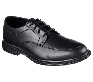 BLACK Skechers Work Relaxed Fit: Gretna - Maysville SR