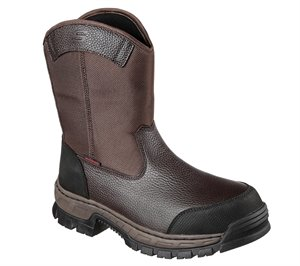 Brown Skechers Work: Vinten - Wibaux Comp Toe WP