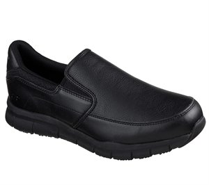 Black Skechers Work Relaxed Fit: Nampa - Groton SR