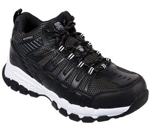 White Black Skechers Work: Queznell ST WP