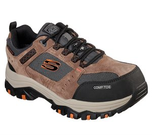 Black Brown Skechers Work Greetah Comp Toe