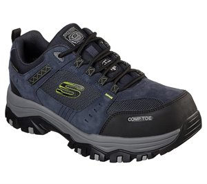 Black Navy Skechers Work: Greetah Comp Toe